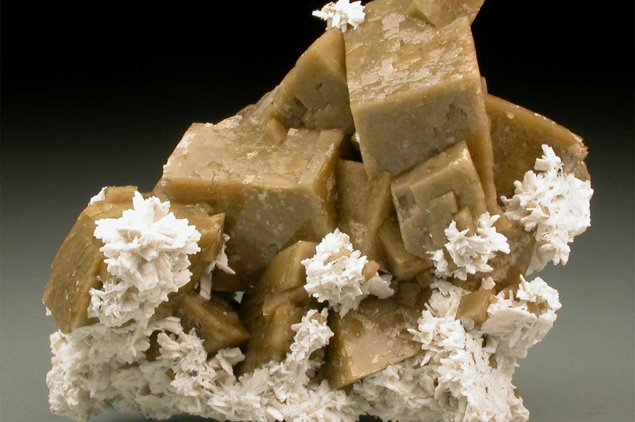 Photographie d'une siderite de teinte beige, extraite de la carrière